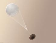 Exomars : Schiaparelli et son parachute (vue d'artiste)